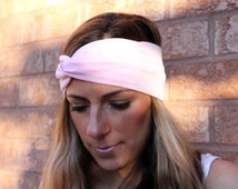 Light Pink Wide Headband, Yoga Headband, Boho Headband, Womens Hair Accessories, Headwrap, Nonslip Headband, wide headband