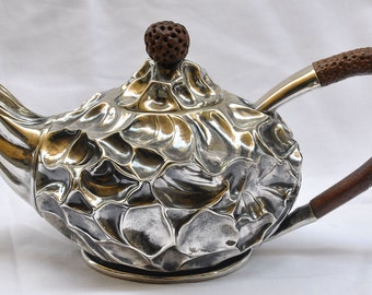 Silver Teapot - silver tea pot - Tea Party - Silver Plate Teapot - Silver - Unique Teapot - Wedding Gift - Anniversary Gift