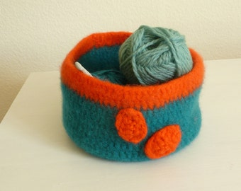 basket felted and round