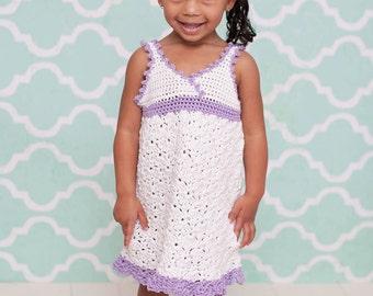 Kattleya Sundress Crochet Pattern Sizes 12 mos - Girls Size 5