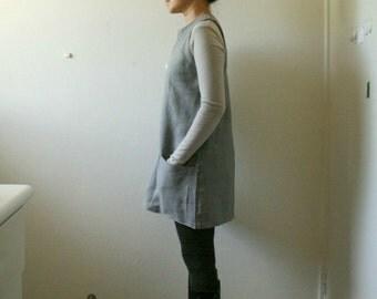 GREY LINEN TUNIC / women linen clothing / linen tunic / organic / eco / flax tunic / handmade in australia / pamelatang