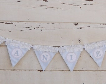 Boy Elephant Name Banner- 1st Birthday