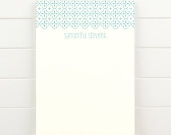 QUATREFOIL Personalized Notepad - Custom Letterhead Teacher