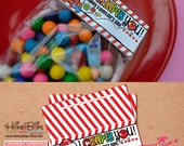 Gumball Valentine's Printable Treat Bag Toppers - Type your Name! - Digital PDF file Only- Instant Download