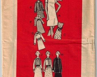 Vintage 60's Sewing Pattern for Basic Dress and Jacket, Size 22 1/2, Plus Size Dress Pattern, Bust 45, Summer Sundress, Madmen Dress Pattern