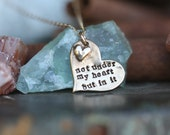 adoption necklace.............hand cast fine Bronze adoption quote mothers necklace