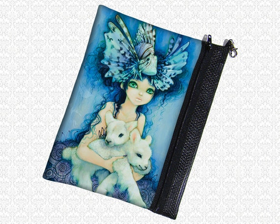 Lions and lambs pouch Camilla d'Errico wristlet, travel bag,