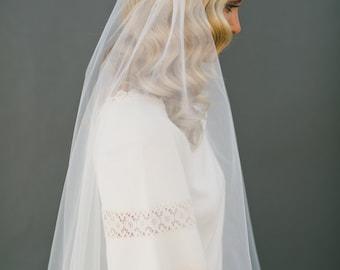 Juliet Veil, Cap Bridal Veil Wedding Veil, Juliet Cap Veil, Tulle Veil, 1920s Cap Veil, BOHO Veil, Chapel Veil, Bridal Accessories  #1107