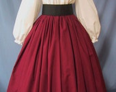 Long Skirt for Costume in Burgundy - RenFaire Costume - Pirate Wench - Renaissance Faire - Dickens - Civil War Reenactment - Handmade