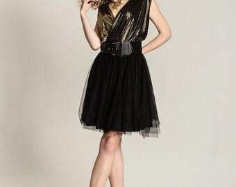 Black tulle skirt Black tutu Tulle circle skirt Black net skirt 50s Petticoat