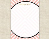 Amazing Ideas Notepad in Maze Pattern - Blush Color with Gold Effect Accents - By A Blissful Nest