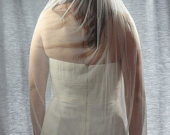 French Silk Tulle Veil, Soft 100% Silk Wedding Veil, Soft Bridal Veil