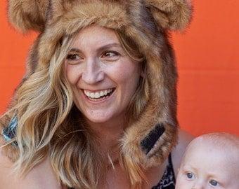 Bear Hat, Adult Costume, Bear Costume