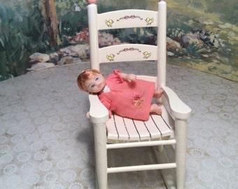 Teenie Miniature Porcelain Doll Minis By Nana Original OOAK Baby Girl