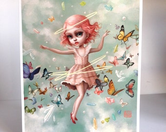 The Dream  - Limited Edition signed numbered 11x14 Pop Surrealism Fine Art Print - by Mab Graves -unframed