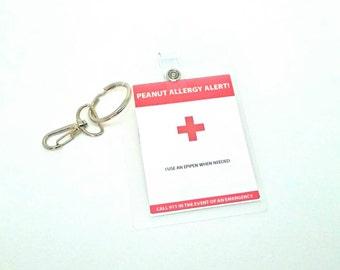 Allergy Alert Badge Medical Alert Allergy Backpack Clip Tag