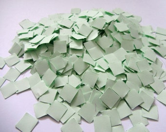 Paper Square Confetti Mint green Wedding Confetti mint Wedding shower confetti Table Decorations Sprinkles