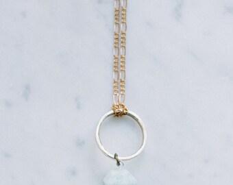 Amazonite Mystic Mineral Pendulum | Petite Size | Healing Aqua Raw Stone Pendant