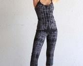 Organic Cotton Top - Tank Top - Yoga Top - Black and Gray Tank Top - Yoga Clothing