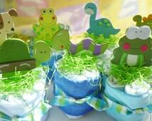 ON SALE..Baby Shower Diaper Cake..Baby Washcloths..Frog..Dog..Turtle..Airplane..Dinosaur..Caterpillar..Duck..Baby Washcloths