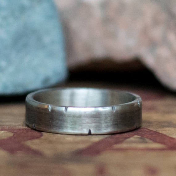 White Gold Wedding Band Men