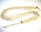 multi strand silk necklace in glass ribbed beads jewelry gift ideas for women