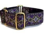 Purple Nobility Jacquard Martingale Collar - 1.5 Inch