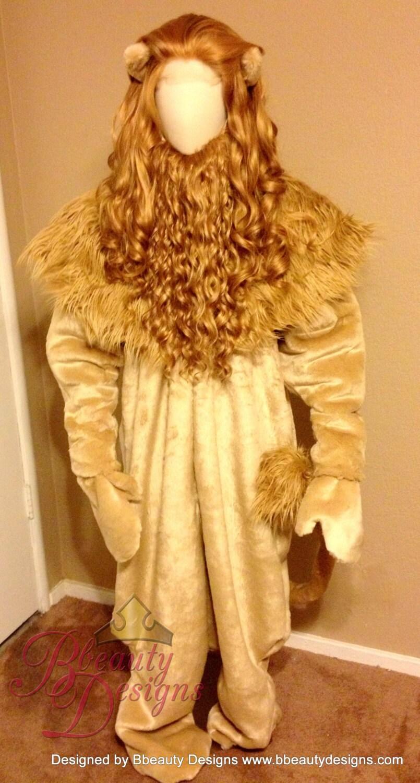 Cowardly Lion Men's Wizard of Oz Custom Made Screen