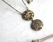 Sun and Moon Necklace, Gold Tree Charm Necklace, Nature Inspired Jewellery, Sun and Moon Pendant, Tree Art, Sun Moon Jewelry, Summer Winter