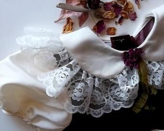 Woodland Rose Princess. Ruffled Lace Girls Portrait Dress.Girls Size 5