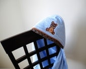 baby bear hooded towel many colors available gender neutral shower gift birthday gift