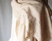 Felted nude beige shawl scarf felting wool luxury cape  pastel wedding bridesmaid fashion boho baymut cij