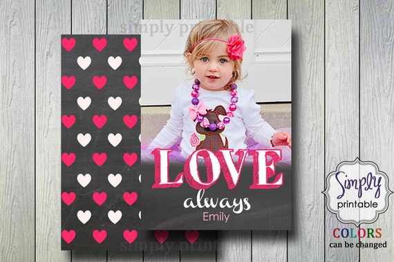 Valentine's Card with Photo Chalkboard