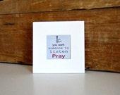 Listen Pray Art Print Quote Inspirational Quote Digital Print Quote Motivational Art Print