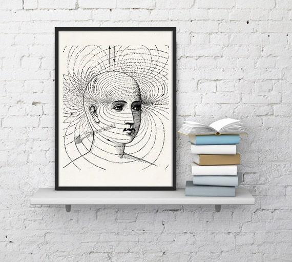 Human perception study Science prints A4 wall art print Anatomy art Perception study art, Gift, giclee art SKA127WA4