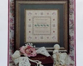Just Nan Caldera LEGACY SAMPLER Counted Cross Stitch Pattern Chart with Embellishment Pack Containing Beads