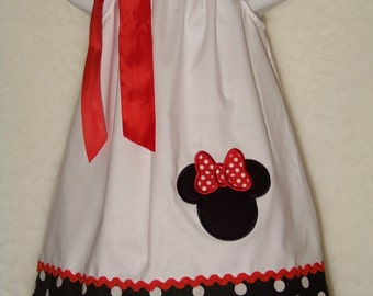 Minnie Mouse Pillowcase Dress / Disney / Mickey Mouse / Newborn / Infant / Baby / Girl / Toddler / Birthday / Custom Boutique Clothing