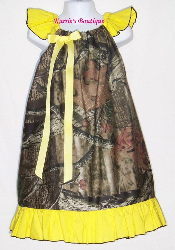camo ruffle dress yellow beautiful mossy oak flower
