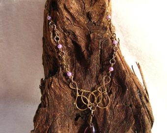 Purple Sweetheart Necklace