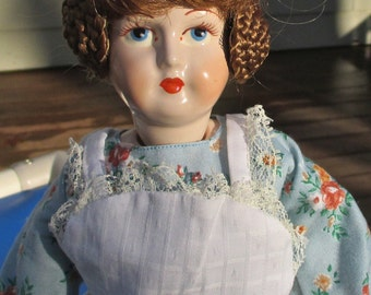 SALE!!  Porcelain Reproduction Doll. vintage