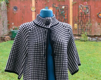 black and white jacket size med