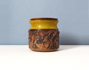 Vintage Small Victoria Littlejohn Stoneware Jar with Lid
