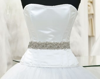 Oh so beautiful bridal sash - Crystal sash with pearls - SAVE 20%