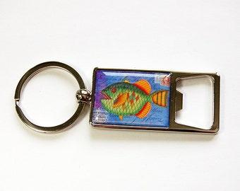 Fish Keyring bottle opener, Fish keyring, Bottle Opener, Keychain, Beer bottle opener, gift for him, fish, gift for fisherman (4607)