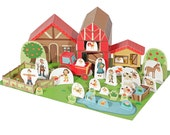 The Farm Paper Toy - Paper Toy - DIY Paper Craft Kit - 3D Model Paper Figure