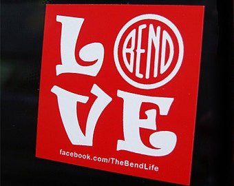 "4 Bend Oregon ""LOVE BEND"" Stickers!"