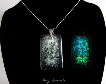 Glass Necklace - Dressmakers Form - Glow in the Dark