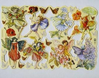 Fairy SCRAP RELIEFS, Garden Fairy, Flower Fairies, Flower Fairy, Fairies Scrap Reliefs, Fairy Scrap Reliefs, Fairy Die Cuts, Fairy, Sheet 1