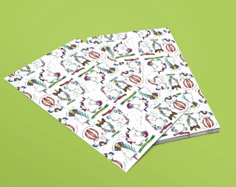 Printable Childrens Unicorn Gift Wrap: illustrated animal, magical, fairytale wrapping paper to print at home!