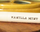 Sweet Vanilla Mint Lip Balm All Natural! BLACK Tubes